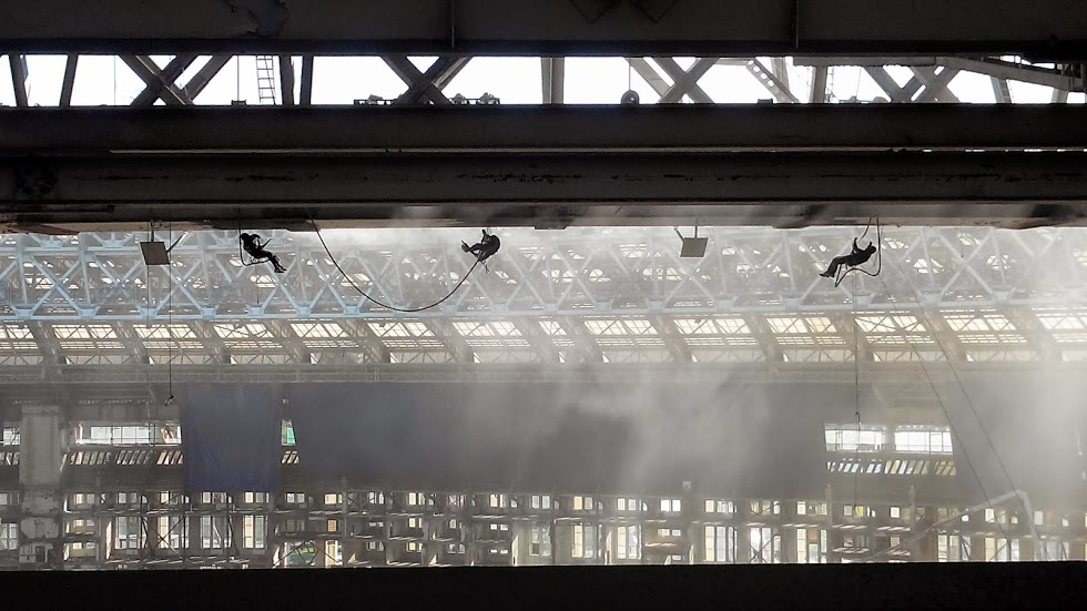 Антикоррозийная защита металлоконструкций стадиона Лужники