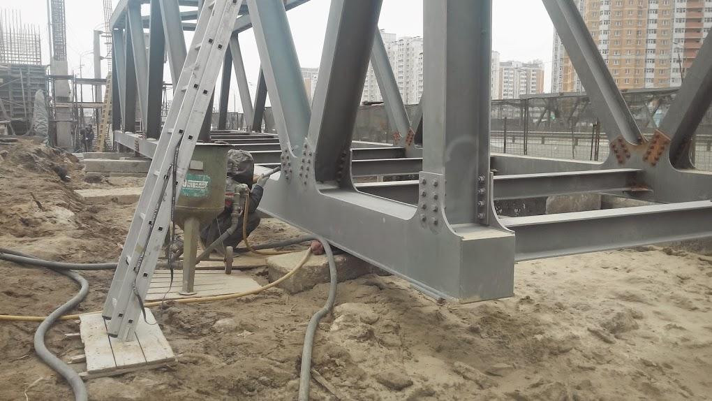 Антикоррозийная защита пешеходного моста Дмитровское шоссе