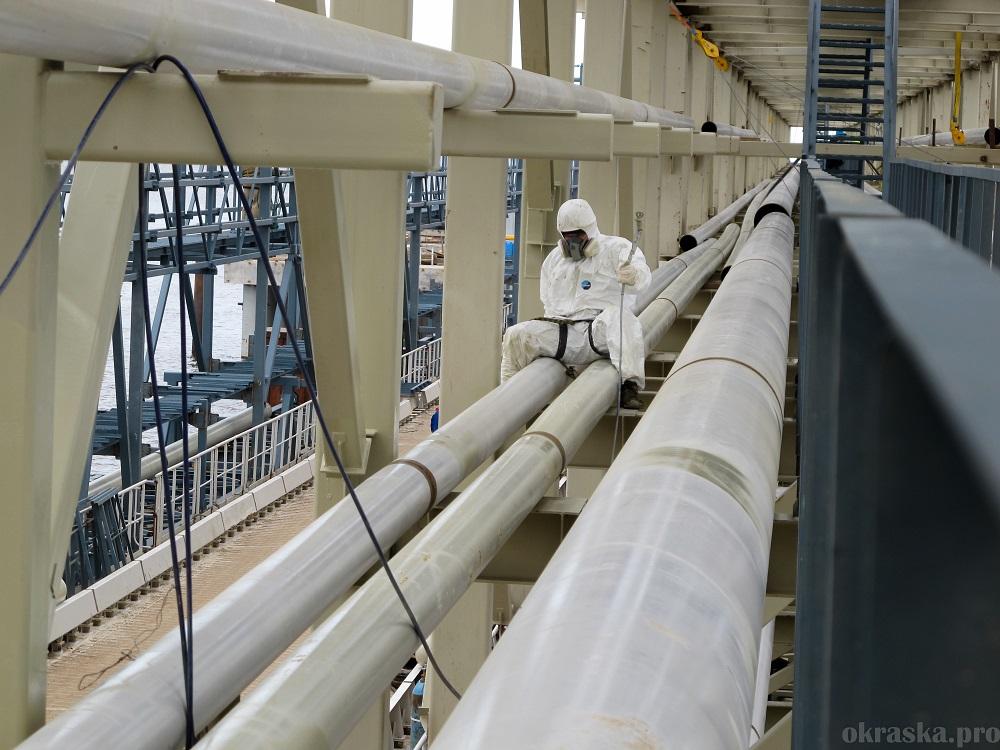 Антикоррозийная защита технологических трубопроводов. Усть-Луга