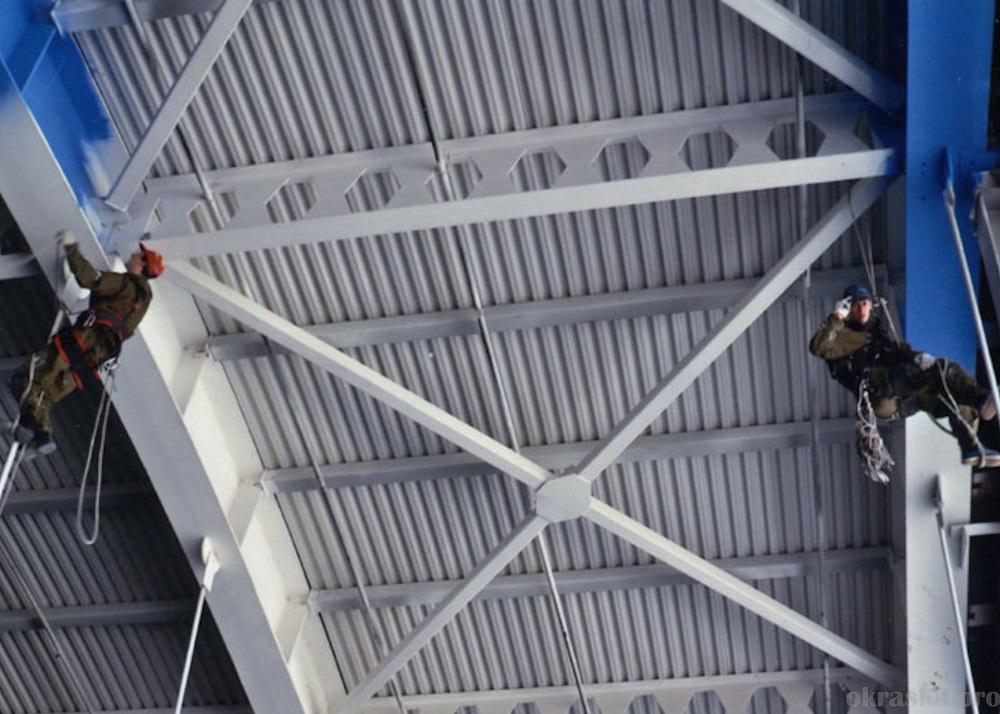 Антикоррозийная защита металлоконструкций ледового дворца. г.Набережные Челны