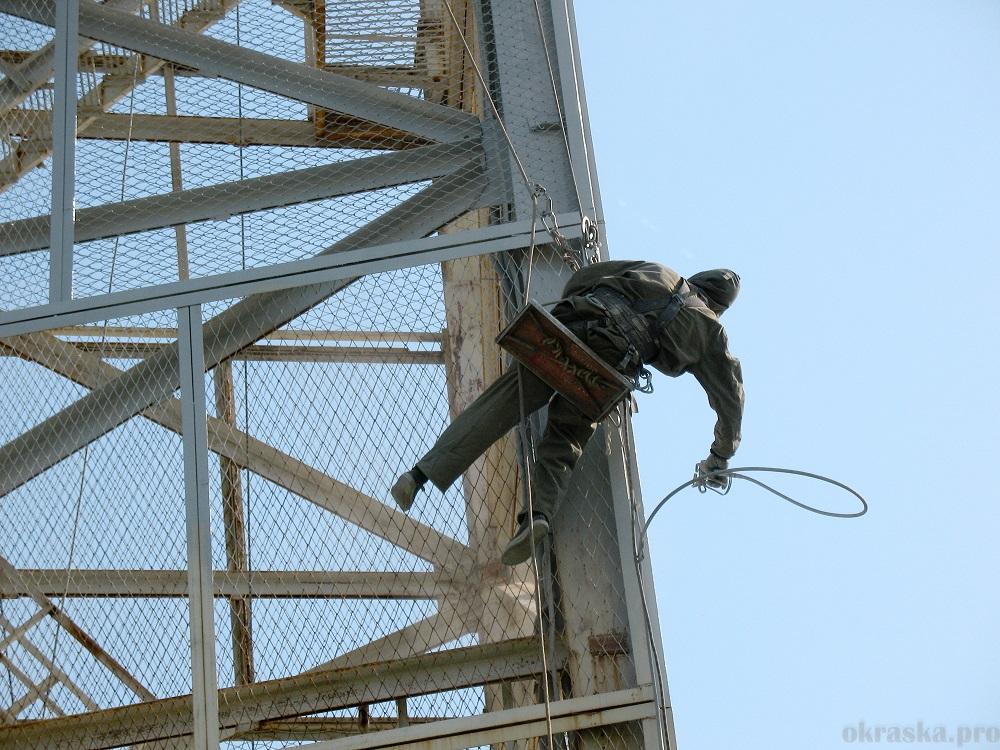 Антикоррозийная защита башни МЕГА