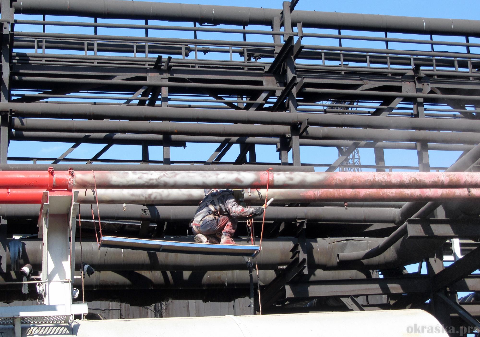Антикоррозийная защита технологических трубопроводов. Северсталь