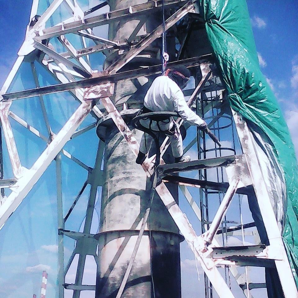 Антикоррозийная защита дымовой трубы котельной Черкизовского Мясоперерабатывающего Завода
