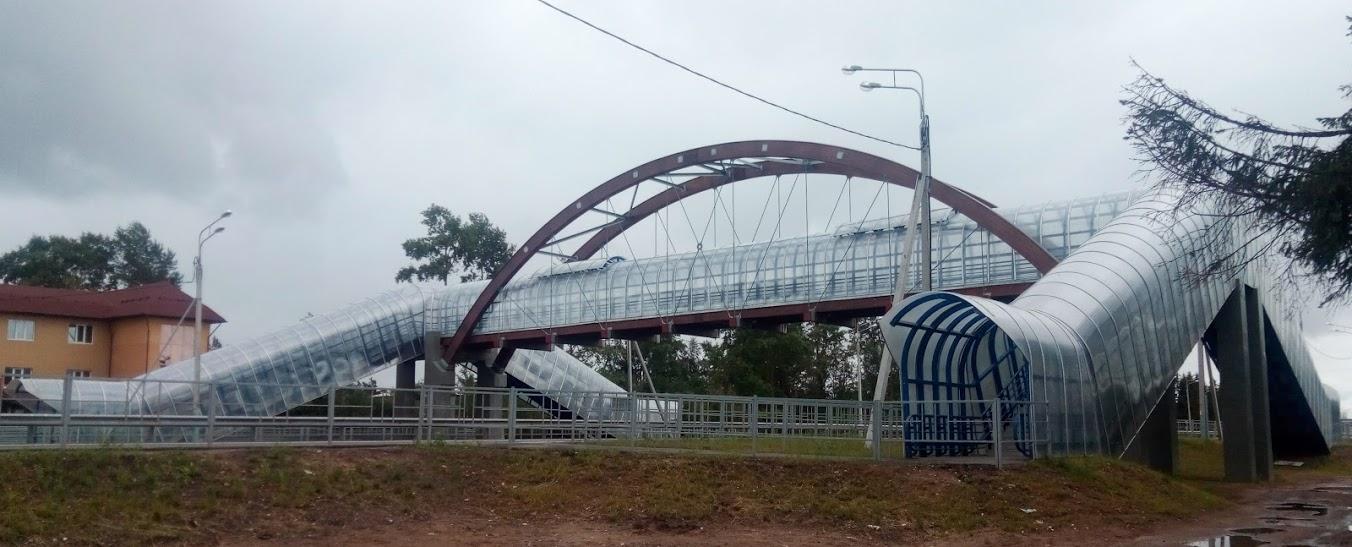 Обследование состояние антикоррозийной защиты пешеходного перехода в районе г.Вологда по заявке Вологодавтодор